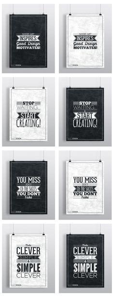 Typography Poster Set No.1 by Matt Edson by Matt Edson, via Behance