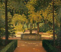 Santiago Rusiñol - (Barcelona,1861-1931 ) Jardines de Aranjuez
