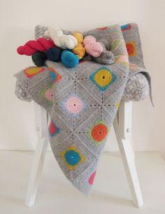 Luxury Granny Square Crochet Blanket Kit / DIY di Warm Pixie su DaWanda.com