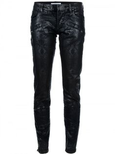 Snake embossed Pants from Pierre Balmain. To die for!