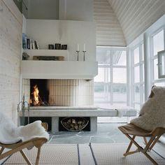 Idée déco 10 : faites un feu dans la cheminée - Marie Claire Maison