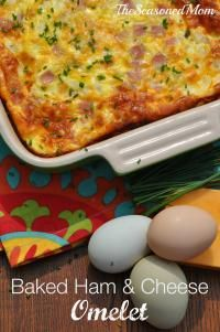 Baked Ham and Cheese Omelet: the easiest way to feed a brunch crowd or to serve your family!