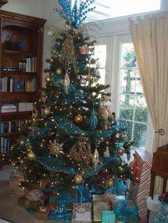 nativity themed christmas decorating ideas 2014 | turquoise christmas tree theme