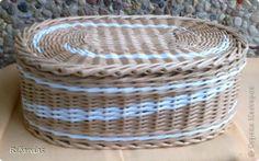 Поделка изделие Плетение Коробки для сока  Бумага газетная Трубочки бумажные фото 12
