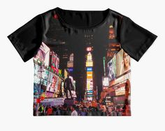 NYC Chiffon Top  Sheer  Times Square  New York by DifferentCity