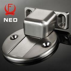 2016 Newset NED DFL Deluxe Zinc Alloy Casting Floor-mounted Magnetic Door Stopper Door Stops Floor Suction For Home Etc