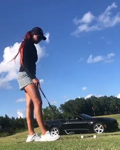 Got to change up the grind Girls Golf, Ladies Golf, Golf Clubs For Beginners, Best Golf Club Sets, Golf Trainers, Golf Fashion, Kids Fashion, Sexy Golf, Used Golf Clubs