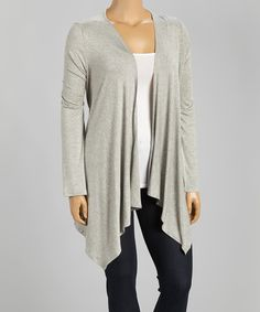 Look at this #zulilyfind! Heather Gray Open Cardigan - Plus by  #zulilyfinds