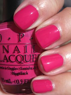 On my toes - OPI Pink Flamenco