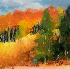 Kit Hevron Mahoney Fine Art: KMA3084 Expression of Fall  Original and Prints available