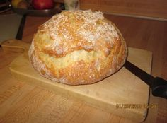 The best Dutch Oven crusty bread. Use 2 cups wheat and 1 cup dark rye for the German style bread