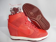 #esty #shoes WMNS NIKE DUNK SKY HI HIGH ESSENTIAL RED PINK SZ 7 644877 600 US 119 99 Running Shoes USA Sale 2015