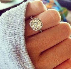 cushion cut halo wedding engagement rings=my dream ring Cushion Cut Engagement Ring, Dream Engagement Rings, Solitaire Engagement, Wedding Engagement, Wedding Bands, Solitaire Diamond, Solitaire Rings, Halo Rings, Cushion Ring