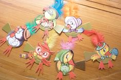 Vintage Party Favor Place Card Holders Set of 6 by ZoomVintage