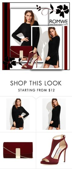 """""""Competition Romwe"""" by micscofield ❤ liked on Polyvore featuring Dorothy Perkins, Jimmy Choo and romwe"""