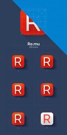 R - iOS7 Icon (WIP)