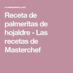 Receta de palmeritas de hojaldre - Las recetas de Masterchef