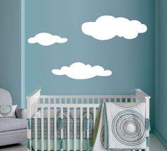 Wall Art Vinyl Decal Sticker Nursery Kids - Simple Clouds. $13.00, via Etsy.