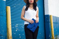 Black and White with pops of blue! http://accordingtolana.blogspot.com/2014/08/black-and-white-for-those-breezy-summer.html