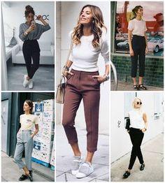 Inspirações de como usar calça de alfaiataria #fashion #moda #alfaiataria #moda2018 #tendencia #tendencias #tendencia2018 #tendencias2018 #calçadealfaiataria #comousar inspiracoes-de-como-usar-calca-de-alfaiataria-pamela-auto-blog-let-me-be-weird-blogueira-de-recife-9 Semi Casual Outfit Women, Semi Formal Outfits For Women, Casual Wear, Office Outfits, Chic Outfits, Fashion Outfits, Fashion Trends, Iranian Women Fashion, Look Blazer