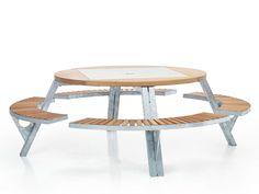 Mesa de picnic con bancos integrados GARGANTUA - Extremis                                                                                                                                                      Más