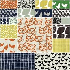 Hemma by Lotta Jansdotter - Fat Quarter Bundle Red Thread Studio Modern Quilt Patterns, Graphic Patterns, Textile Patterns, Print Patterns, Sewing Patterns, Textile Design, Textiles, Gorgeous Fabrics, Modern Fabric