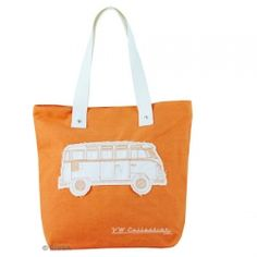 Brand New Genuine VW Shopping Bag This shopper bag features the Bus on a Orange background Has an additional pocket inside with zipper closure at the top of the bag. Dimensions are x x Canvas Shopper Bag, Shopper Tote, Canvas Tote Bags, Volkswagen T1, Campervan Gifts, T1 Bus, Deco Retro, Orange Bag, Updos