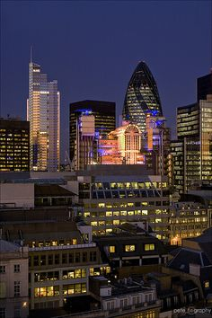 London City Lights via Amazing London Photography