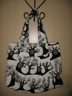 Winter Tree Print Hand bag by rebeccaanndesigns on Etsy, $40.00