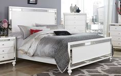 Homelegance Alonza Panel Bed - White-1845-1