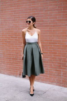 DIY PLEATED MIDI SKIRT