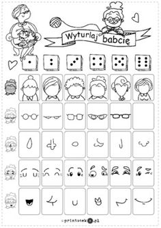 Guessing Games For Kids, Roll A Story, Emotions Preschool, Art Handouts, Free Activities For Kids, Drawing Exercises, Art Curriculum, Drawing Games, Baby Education