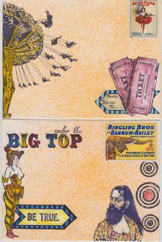 Viva Las VegaStamps!: Circus Mail Art Part One by Tera Callihan