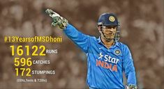 MS Dhoni completes his 13 years in International cricket. Cricket Today, Cricket Sport, Amazing Photos, Cool Photos, Ms Dhoni Wallpapers, World Cricket, Latest Cricket News, Best Player, Om
