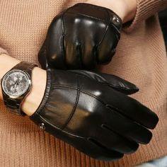 Elma Men's Touch Screen Nappa Leather Winter Gloves Iphone Ipad Smart Phone (L, Black) ELMA. $32.99