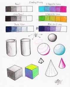 Shading Mixing Worksheet p2 by Diana-Huang.deviantart.com on @deviantART