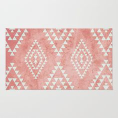 Buy Area & Throw Rugs with design featuring mint & coral tribal pattern by dani and adorn your home with both style and comfort. Available in three sizes x x x Coral Rug, Mint Coral, Boho Nursery, Girl Nursery, Throw Rugs, Throw Pillows, Tapis Design, Triangle Pattern, Nursery Inspiration