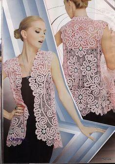 Edivana Croche: Blusa Rosa Maravilhoooosa!!!