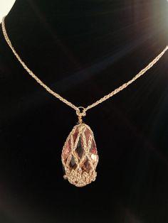Crochet Necklace Pattern Elegkant Jewelry by DesignByIrenne