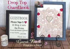 heart drop guestbook  Rustic Wedding Guest Book by aLovelyDetailCo