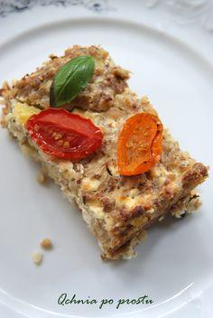 Zapiekanka z kaszy gryczanej Lasagna, Quiche, Feta, Breakfast, Ethnic Recipes, Morning Coffee, Quiches, Lasagne