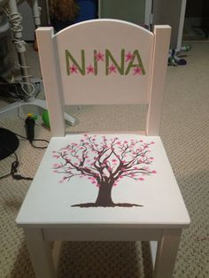 Toddler Chair. Wooden. Personalized