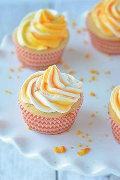 Eggless Orange Cupcakes
