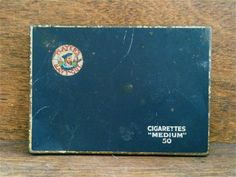 Vintage Players Navy Cut Cigarette Tin Box by EnglishShop on Etsy, $21.00
