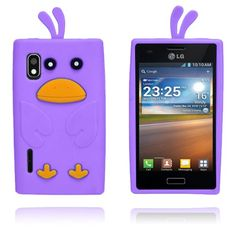 And (Lilla) LG Optimus L5 Cover