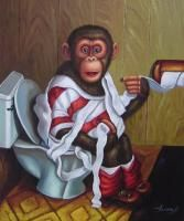 Monkey Painting for the Bathroom