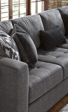 Detail of the Ashley HomeStore Owensbe sectional. Visit your local store today to view it in person!
