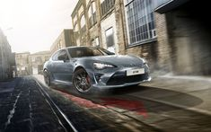 Download wallpapers Toyota GT86 Shark, 2017, gray sports coupe, new cars, Japanese cars, Toyota
