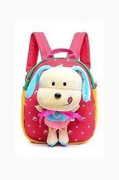 PW Surplus Child's Favorite Plush Mini Backpack w/ Puppy Doll for Kindergarten S