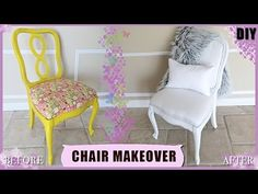 DIY CHAIR UPHOLSTERY MAKEOVER | $3.00 DOLLAR CHAIR | 2017